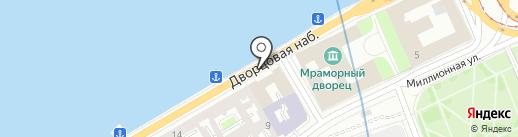 Российский морской регистр судоходства на карте Санкт-Петербурга