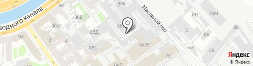 Альфа Гласс на карте Санкт-Петербурга
