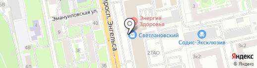 Эстель Адони на карте Санкт-Петербурга