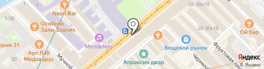 Онис на карте Санкт-Петербурга