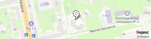 Манчестерская-4, ТСЖ на карте Санкт-Петербурга