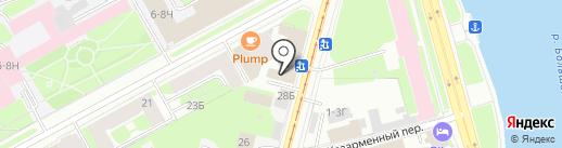 Арабик-Ворд на карте Санкт-Петербурга