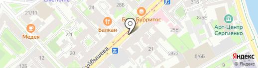 Почтовое отделение №46 на карте Санкт-Петербурга