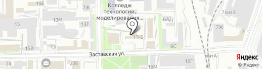Русь, ЗАО на карте Санкт-Петербурга