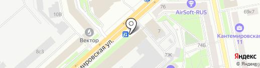 КАНАР на карте Санкт-Петербурга