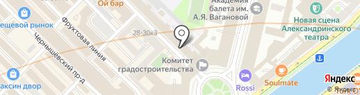 Решение на карте Санкт-Петербурга