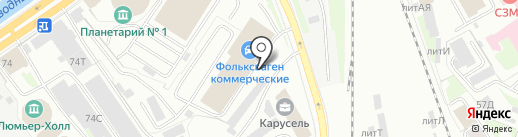 Таурус-принт на карте Санкт-Петербурга