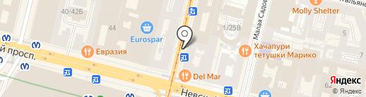 Городское туристско-информационное бюро на карте Санкт-Петербурга