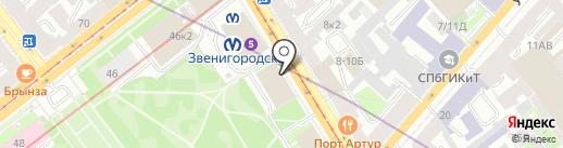 Банк Финансовая корпорация Открытие, ПАО на карте Санкт-Петербурга