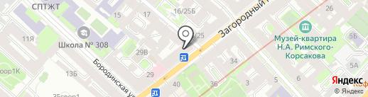 Геострой, ЗАО на карте Санкт-Петербурга