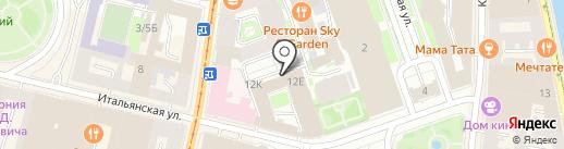 Vmesto на карте Санкт-Петербурга