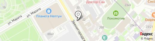 Комлиз-Полиграф, ЗАО на карте Санкт-Петербурга