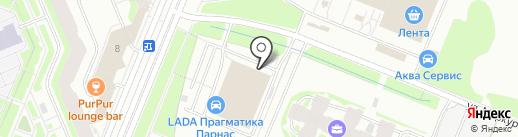 Парнас на карте Санкт-Петербурга