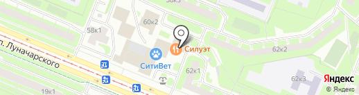 Эрлифт+ на карте Санкт-Петербурга