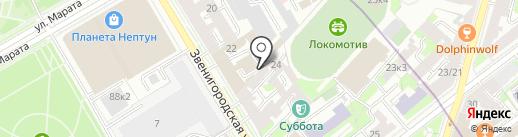 Герда, ЗАО на карте Санкт-Петербурга