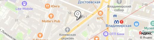 Изыскательские организации Северо-Запада, НП на карте Санкт-Петербурга