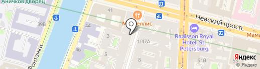 The Telegraph на карте Санкт-Петербурга