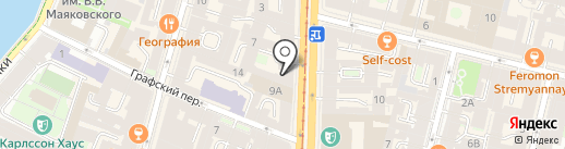 Ф.М. Достоевский на карте Санкт-Петербурга