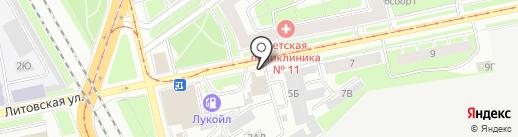 Людмила на карте Санкт-Петербурга