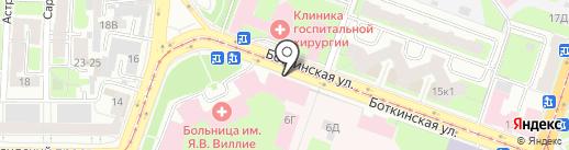 Клиника детских болезней им. академика М.С. Маслова на карте Санкт-Петербурга