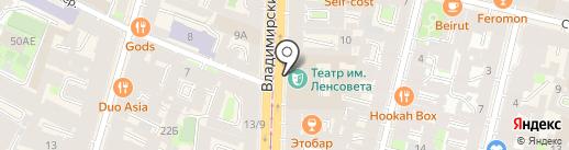 Санкт-Петербургский государственный академический Театр им. Ленсовета на карте Санкт-Петербурга