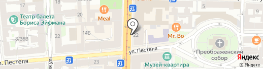 Интерлайн, ЗАО на карте Санкт-Петербурга