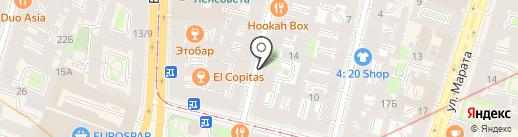 Анчар-Трэвел на карте Санкт-Петербурга