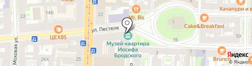 Лейбл на карте Санкт-Петербурга