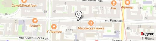 Personne на карте Санкт-Петербурга