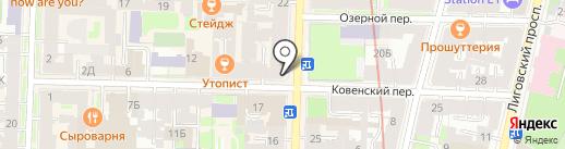 Bulldog на карте Санкт-Петербурга
