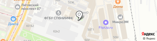 Артмонумент на карте Санкт-Петербурга