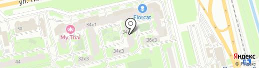 Дом на Типанова, ТСЖ на карте Санкт-Петербурга