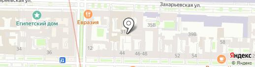 Санкт-Петербургская палата недвижимости на карте Санкт-Петербурга