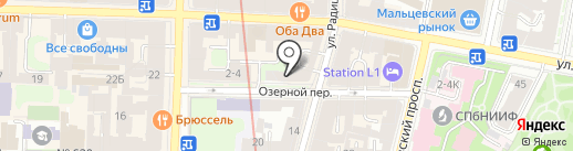 Воскресение на карте Санкт-Петербурга