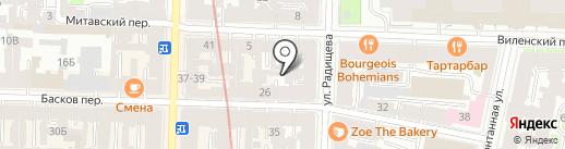 Центр остеопатической реабилитации им. академика Чокашвили В.Г. на карте Санкт-Петербурга