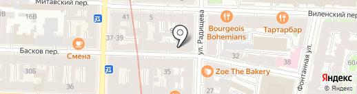 Тесоро на карте Санкт-Петербурга