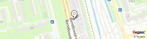 Коллективная автостоянка №1 на карте Санкт-Петербурга
