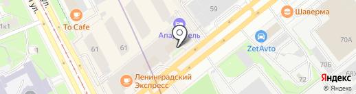 АвтоПлюс на карте Санкт-Петербурга
