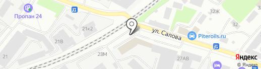 Эскада СПб на карте Санкт-Петербурга