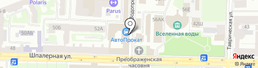 Терминатор на карте Санкт-Петербурга