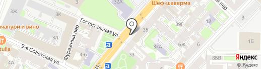 Блеск на карте Санкт-Петербурга