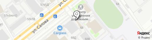 Магазин автозапчастей для ГАЗ, УАЗ на карте Санкт-Петербурга