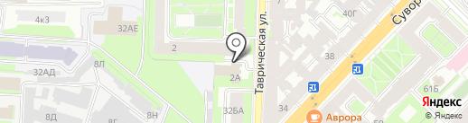Стронг на карте Санкт-Петербурга