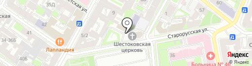 Храм Шестоковской Иконы Божией Матери грузинского прихода на карте Санкт-Петербурга