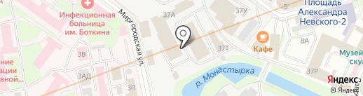 ВАННБОК на карте Санкт-Петербурга