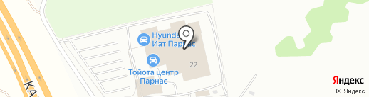 Тойота Центр Парнас на карте Бугров