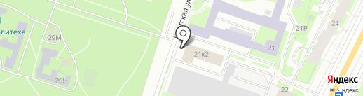 Морстройтехнология на карте Санкт-Петербурга