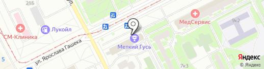 Пронто на карте Санкт-Петербурга