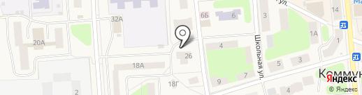 Магазин головных уборов и аксессуаров на карте Коммунара