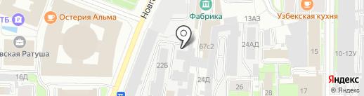 Алкро на карте Санкт-Петербурга